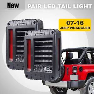 Pair-07-16-Jeep-Wrangler-JK-LED-Tail-Lights-Brake-Rear-Signal-Rev Wangara Wanneroo Area Preview