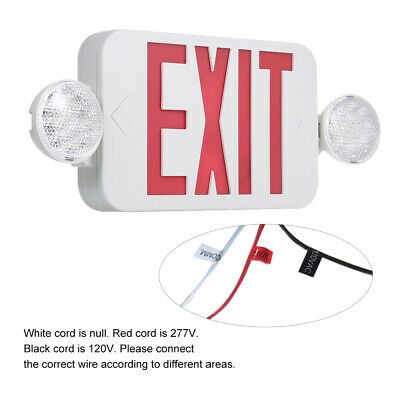 Led Exit Sign Emergency Lights Red Compact Combo Ul924 Fire Safety Comborjr