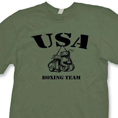 USA BOXING TEAM Boxer Gym Ring T-shirt Fighting Training Tee -