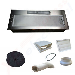 New 750mm Kitchen Cooker Canopy Extractor Hood Fan Twin