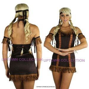 Ladies-Pocahontas-Native-American-Indian-Fancy-Dress-Costume-Halloween-Outfit