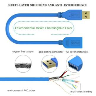 Simplcom CA315 1.5M 4FT USB 3.0 SuperSpeed Extension Cable Insula
