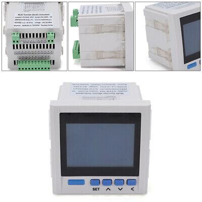 Multifunction Power Meter Digital Display 3 Phase Ammeter Voltmeter 380v 5a New