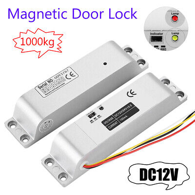Electric Magnetic Door Lock 1000kg Strong Force Access Control Security Lock 12v