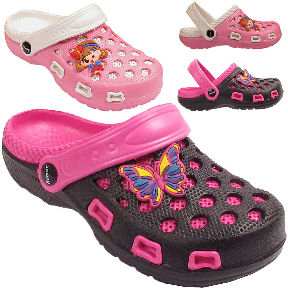 Kids Unisex Boys Girls Garden Clogs Shoes Sandals Mules Size UK 11 12 13 1 2 3