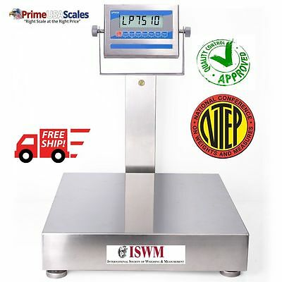 24 X 24 Washdown Bench Scale Ntep Certified 1000 Lb Stainless Steel