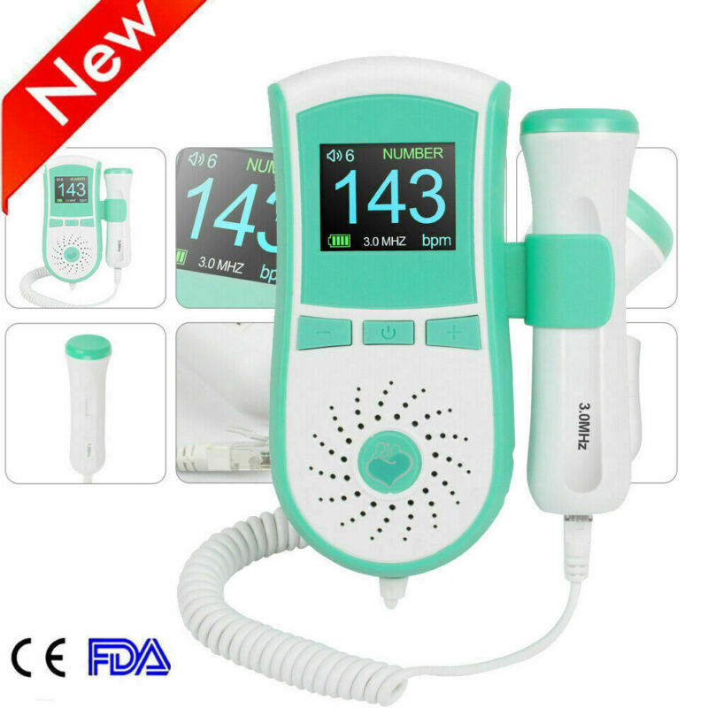 Prenatal Baby Feta ldoppler LCD Fetal Doppler 3MHz Prenatal Monitor FHR doppler