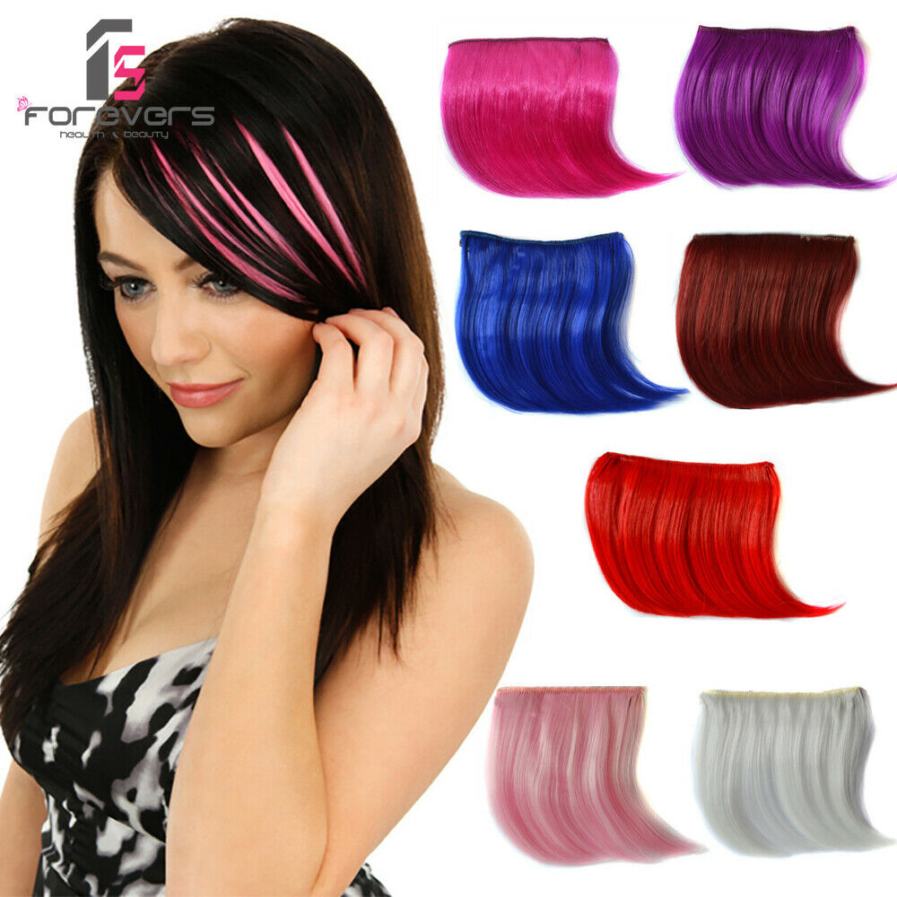 Women Clip On Front Straight Hair Bang Fringe Hair Extensions Colors