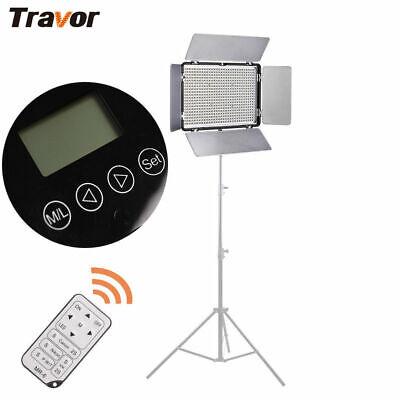 Travor TL-600 LED Video Light Panel Studio Photography For Nikon Canon Camera UK