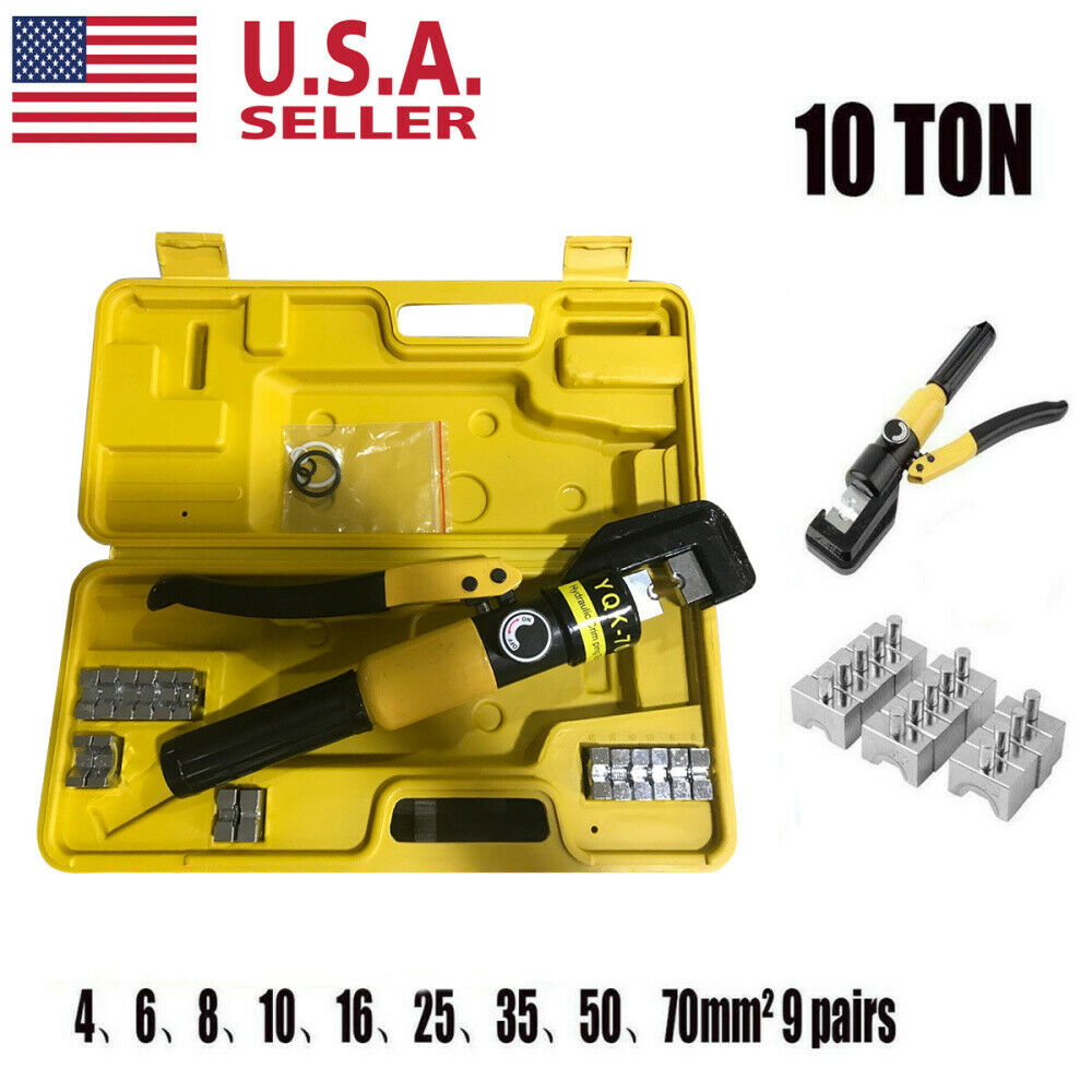 10 Ton Hydraulic Wire Battery Cable Lug Terminal Crimper Cri