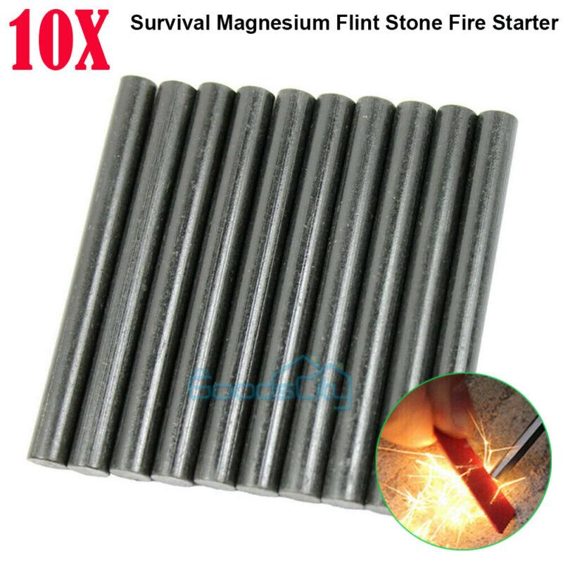 "(1-10 Packs) 1/2 x 5"" Ferrocerium Ferro Magnesium Rod Flint Fire Starter Camping"
