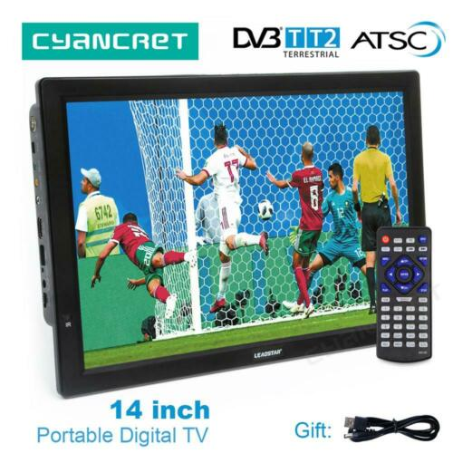 14+inch+HD+Portable+TV+DVB-T2+ATSC+Digital+Analog+Television+Mini+Small+Car+TV