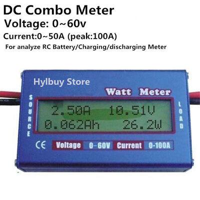 1pcs Digital Monitor Lcd Watt Meter Dc Ammeter Battery Power Analyzer 0-100a