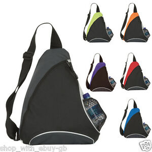 MONO-STRAP-SCHOOL-BAG-TRIANGLE-ONE-STRAP-RUCKSACK-BACKPACK-COLLEGE-WORK