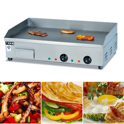 Electric Counter Top Griddle Flat Top Commercial Restaurant Grill Bbq 4400w Sus