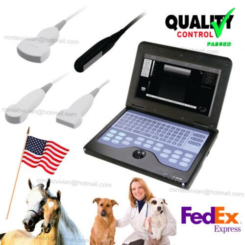 USA Fedex, VET Veterinary Ultrasound Scanner Portable Laptop Machine, Animal Use