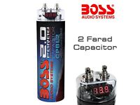 Boss Audio CPBL2 - 2 Farad Power Capacitor with Digital Voltage Display