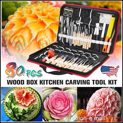 80pcs Kitchen Professional Pumpkin Engraver Carving Tool Kit Set Carve Knife US (Pumpkin Carving Knives)