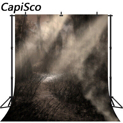 Horror Forest Photography Backdrops Halloween Original Design Background TP126](Horror Halloween Background)