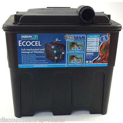 Hozelock Ecocel 2500 Black Box Fish Pond Filter System