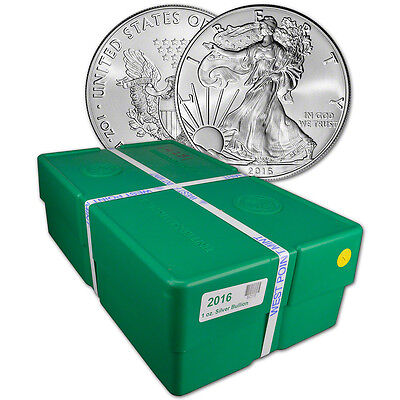 Click now to see the BUY IT NOW Price! 2016 AMERICAN SILVER EAGLE 1 OZ $1   BU   SEALED 500 COIN MONSTER BOX