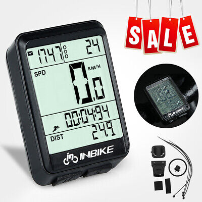Wireless LCD Bicycle Computer Odometer Speedometer Outdoor Sports Recorder J8V2