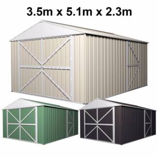 garage shed workshop 35m x 51m x 23m with double barn door