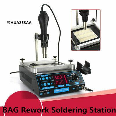Yihua 853aaa Bga Rework Soldering Station Hot Air Gun Preheater 1200w Ac110v Top