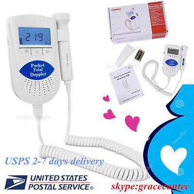 Usa Fda Baby Heart Beat Monitor 3mhz Probe Fetal Dopler Sonoline Bgelbattery