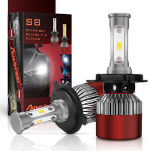 H4 9003 LED Headlight Conversion Kit Bulbs 1200W 180000LM Lamps Hi/Lo Beam 6000K