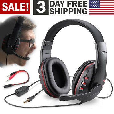 Gaming Headset with Mic Computer Video Pro Gamer Headphone for PS4 Xbox One PC