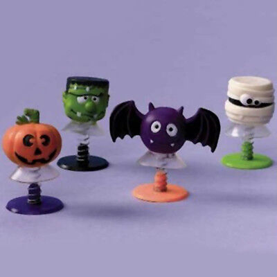 6 Halloween Party Cheerful Cartoon Monsters Pop Up Toys Gifts Treats Favours