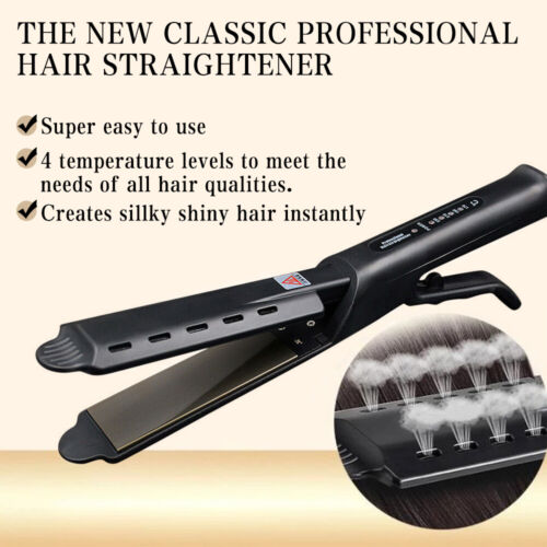 Professional Four-gear Ceramic Tourmaline Ionic Flat Iron Hair Straightener US Hair Care & Styling