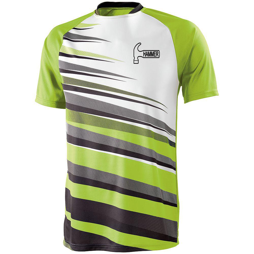 Hammer Men's Sauce Performance Jersey Bowling Shirt Dri-fit Lime