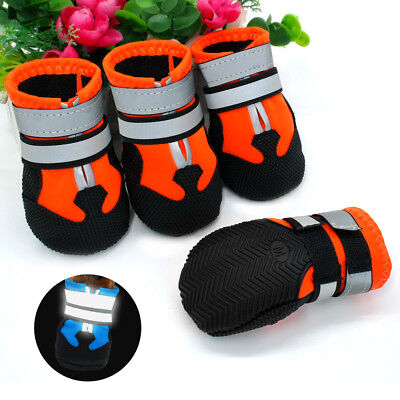 (4pcs Pet Shoes Anti Skid Dog Boots Booties for Medium Large Labrador Paw Protect)