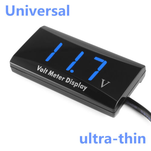 Universal Car Blue LED Digital Display Voltmeter Voltage Meter Gauge Ultra Thin