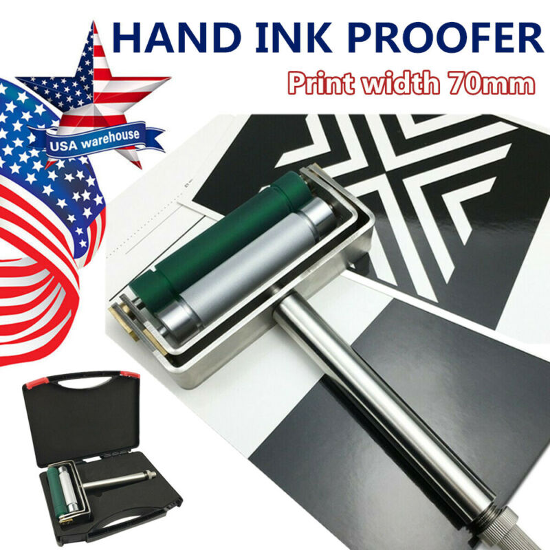 """2.75"""" Hand ink Proofer for Gravure Flexgraphic and Coating Chrome Anilox Rubber"""