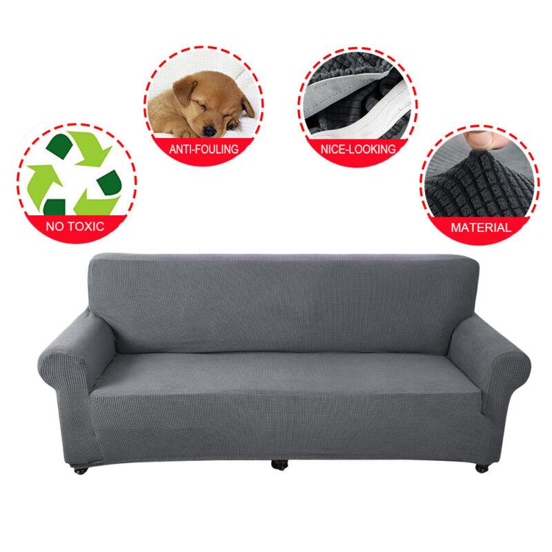 Housse Canapé Spandex Polyester Lycra 1//2//3 Place Sofa Fauteuil Extensible G