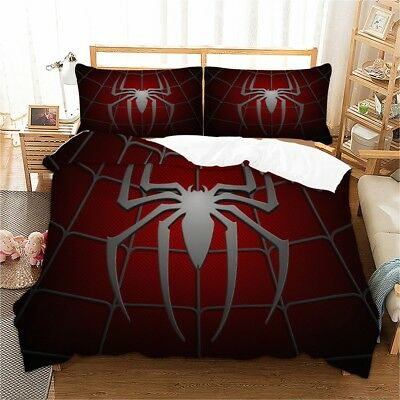 Spider-Man Duvet Cover set Quilt Cover Bedding Twin Queen King pillow case  (Spider Bed Set)