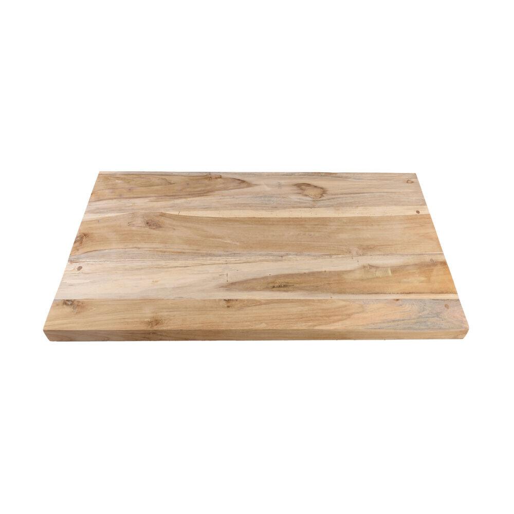 wohnfreuden Teakholz Waschtischplatte Gr. M geschliffen ca. 80x47cm Holz-Platte
