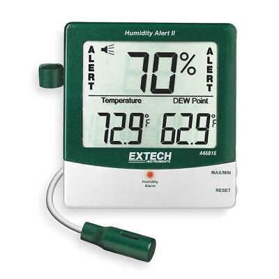 EXTECH 445815 Digital Hygrometer, Alarm, 14 to 140 F