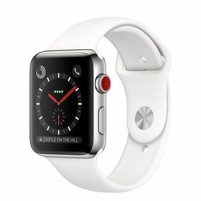 Apple Watch 38mm Series 3 Steel Case GPS + Cellular with Sport Band MQJW2LL/A