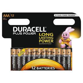 12x Duracell AAA Plus Power Duralock Alkaline Batteries Cell LR03