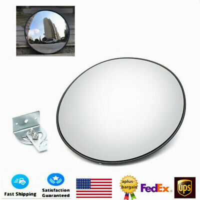 30cm Wide Angle Security Curved Convex Outdoor Road Mirror Traffic Driveway Usa