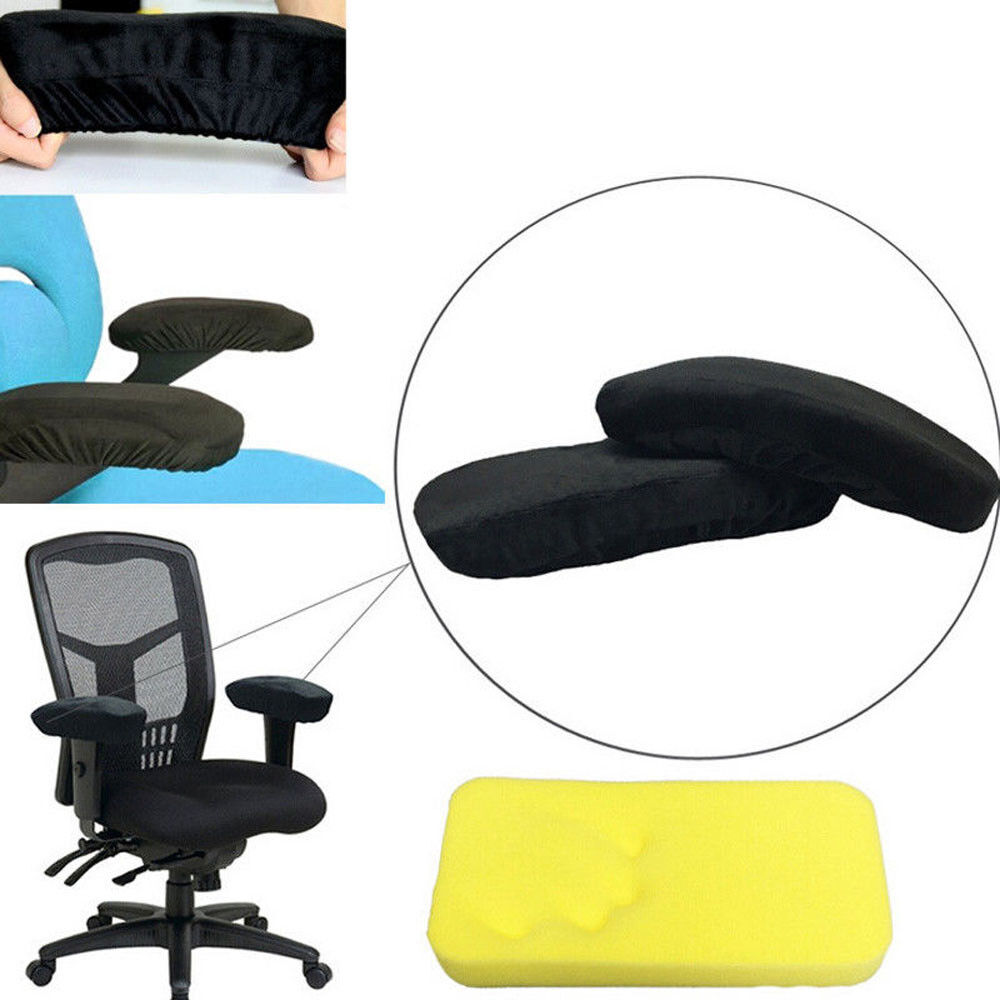 Memory Foam Armrest Cushion Pads Elbow Arm Rest Cover Chair