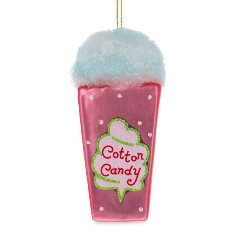 Cotton Candy Glass Christmas Ornament 4.5 Inches