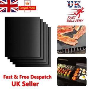 5x BBQ Grill Mat non-stick Oven Liners Teflon Cooking Baking Reusable Sheet Pad