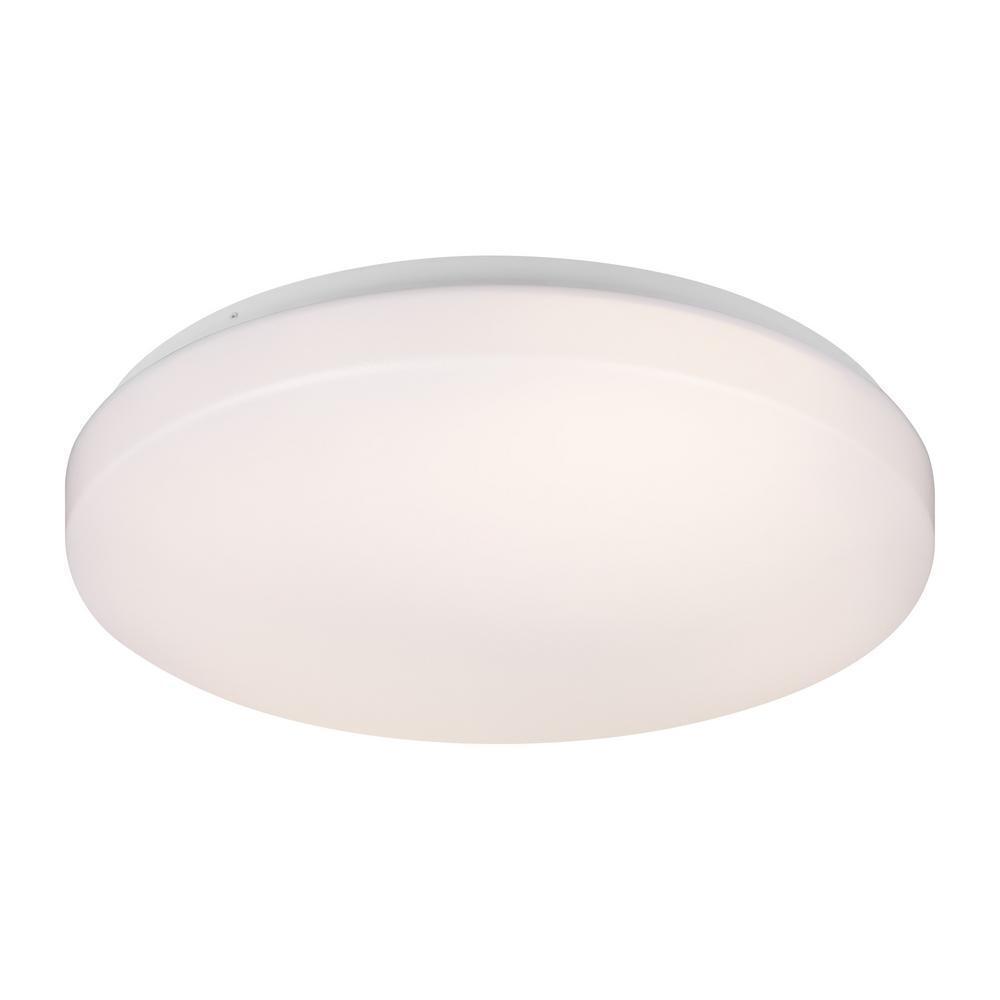 """Feiss Generation Holly 1 Light 12"""" White Flush Mount Ceiling"""