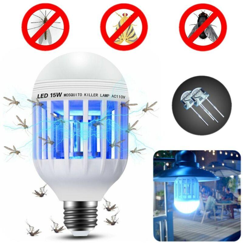 3 Modes LED Light Zapper Lightbulb Bug Mosquito Fly Insect Killer Bulb Home Lamp