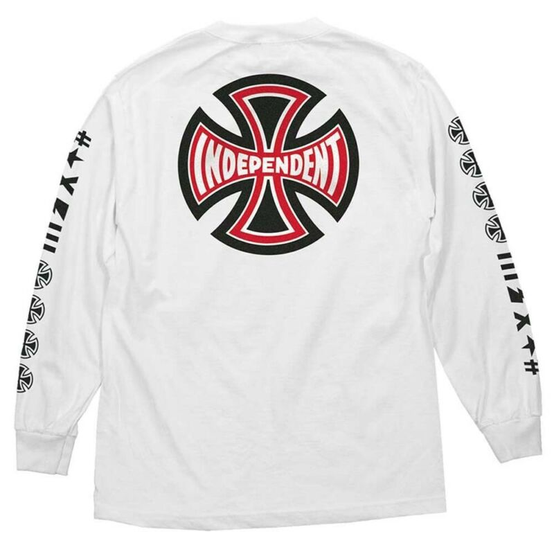 Independent Trucks ANTE LONG SLEEVE Skateboard Shirt WHITE XXL
